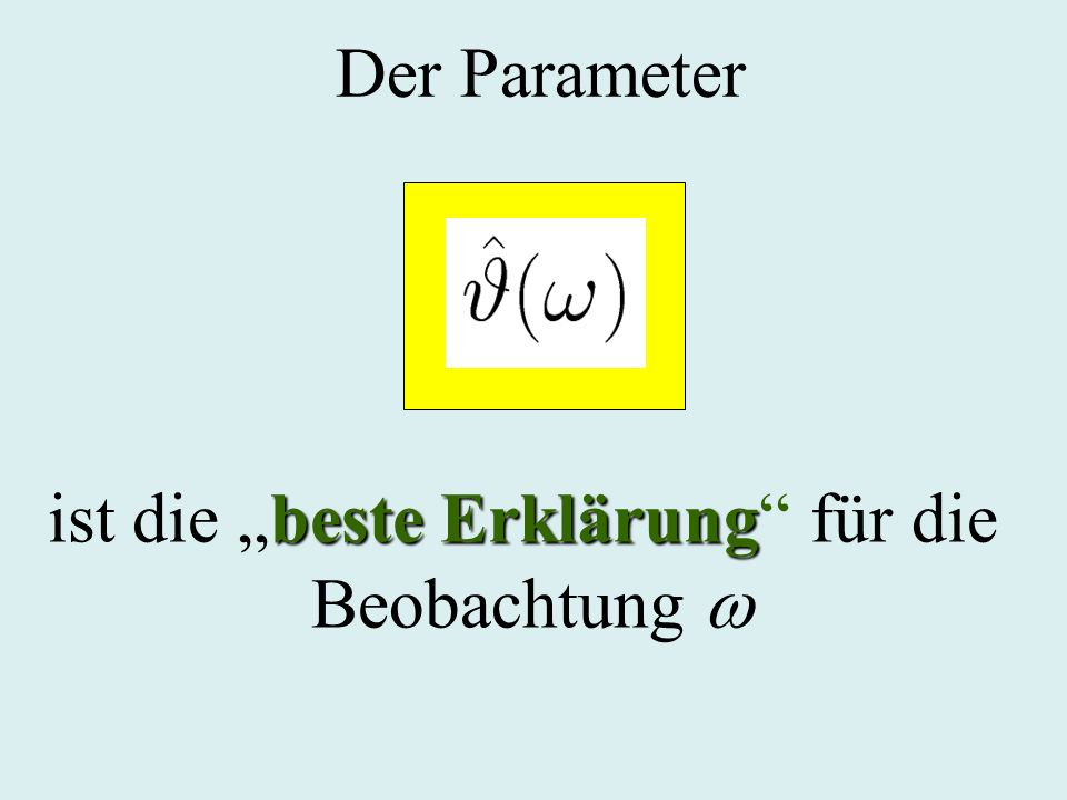Der Parameter beste Erklärung ist die beste Erklärung für die Beobachtung