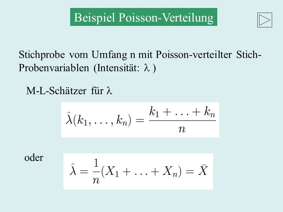 Normalverteilte Stichprobenvariable M-L-Schätzer Erwartungswert Hier spielt es keine Rolle, ob die Varianz bekannt ist oder nicht.