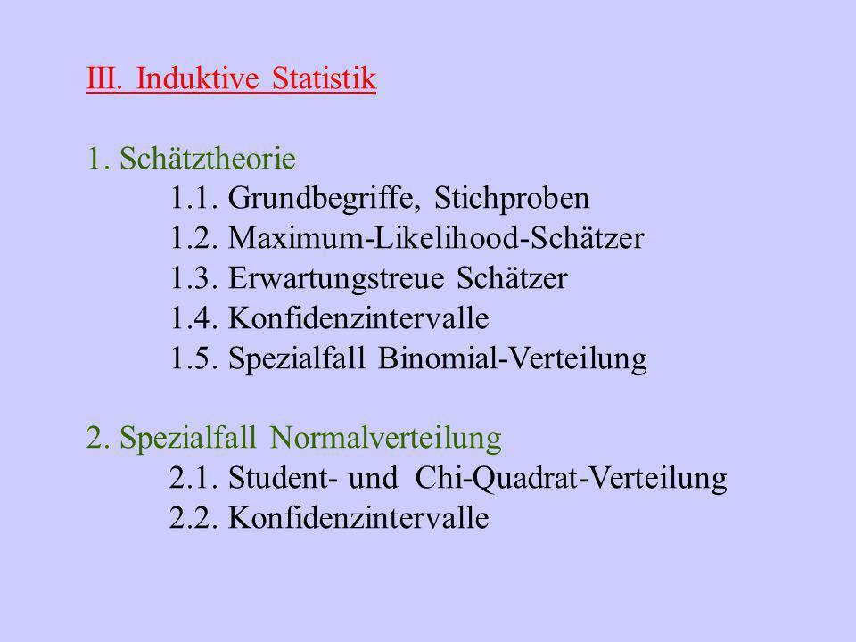 Entwicklung der Statistik R.A.