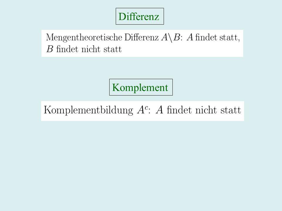 Differenz Komplement