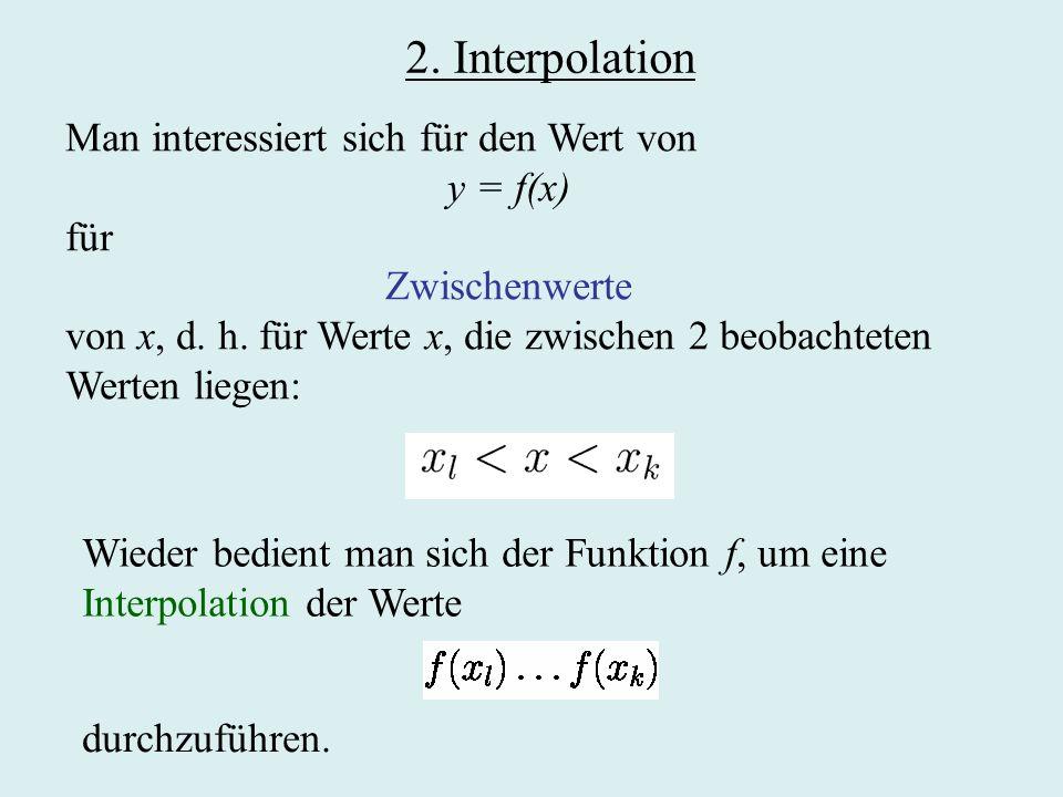 Lineare Regression Finde reelle Zahlen a und b,so dass der Wert von minimal wird.
