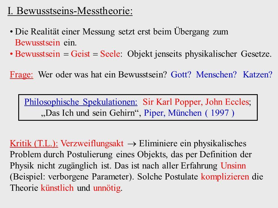 H V Welt 1 Photon (H/V) II.Viele-Welten-Theorie: (bzw.