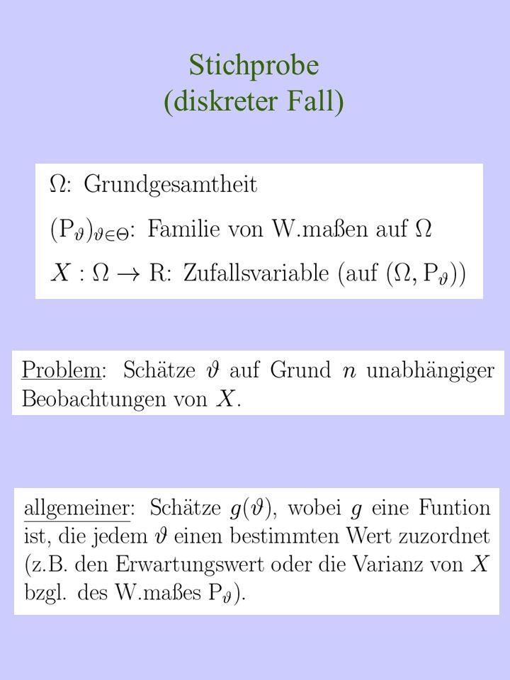 Stichprobe (diskreter Fall)