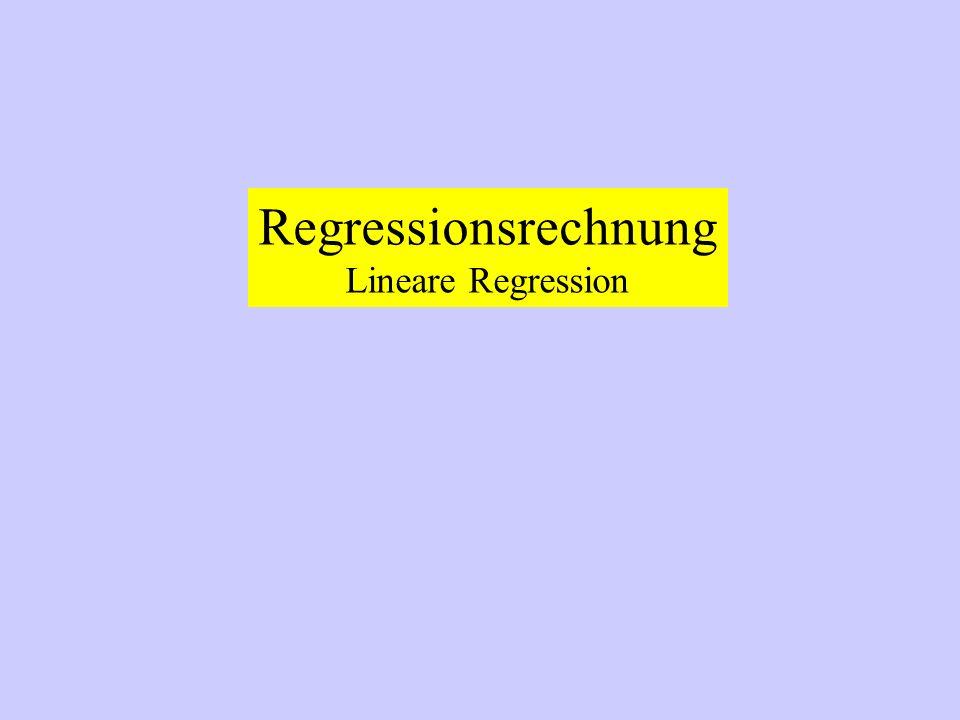 Regressionsrechnung Lineare Regression