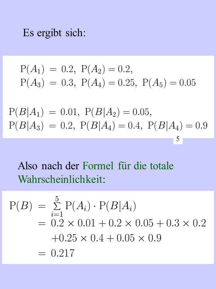 Der stetige Fall f ist die Wahrscheinlichkeitsdichte.