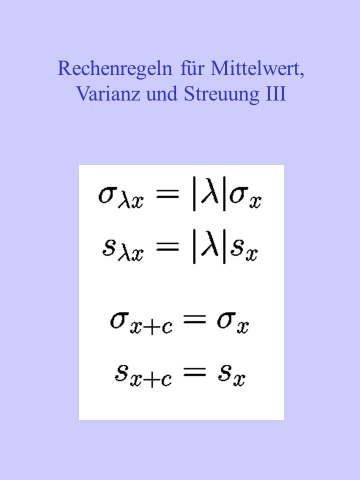 Korrelationskoeffizient bei verschiedenen Konstellationen von Ausprägungen