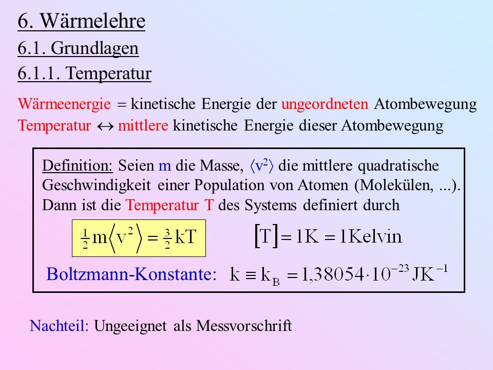Darstellung im pV-Diagramm: p V Isochore (V = const.) Isobare (p = const.) Isotherme (T = const.) p V 1 Adiabate ( Q = 0) p V κ