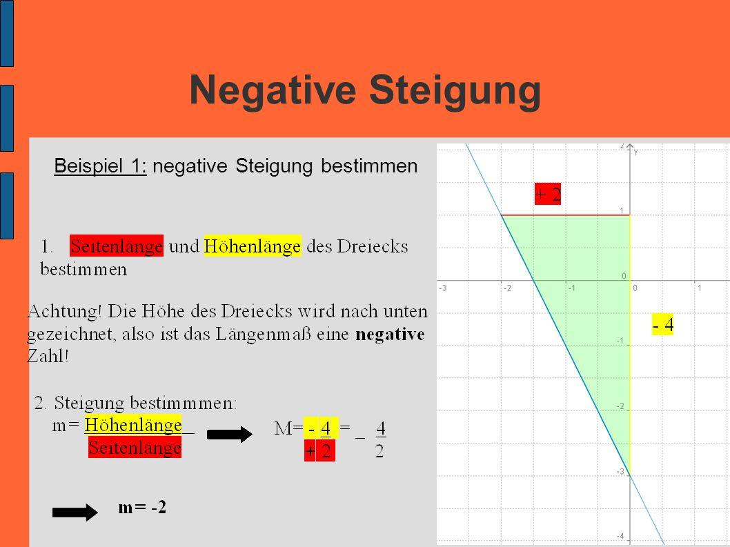 Negative Steigung Beispiel 1: negative Steigung bestimmen