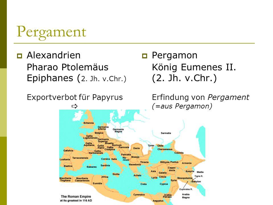 Pergament Alexandrien Pharao Ptolemäus Epiphanes ( 2.