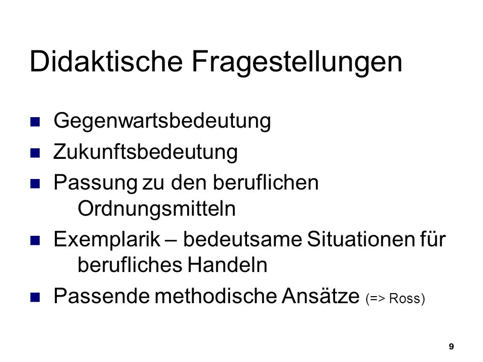 Lernfelder im Lehrplan für den Ausbildungsberuf Hauswirtschafter / Hauswirtschafterin (NRW)