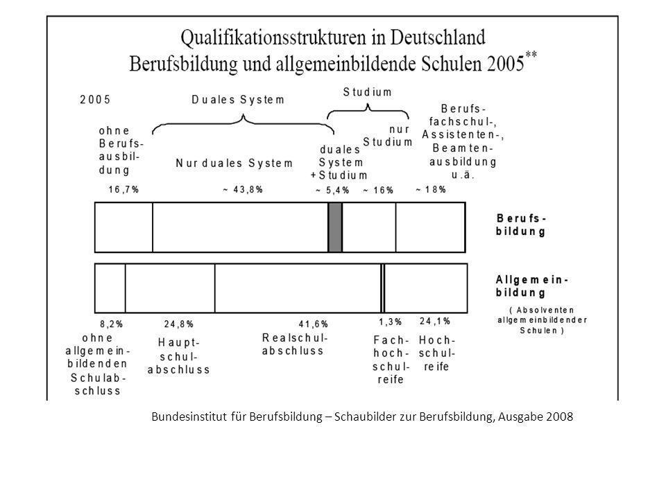 Bundesinstitut für Berufsbildung – Schaubilder zur Berufsbildung, Ausgabe 2008
