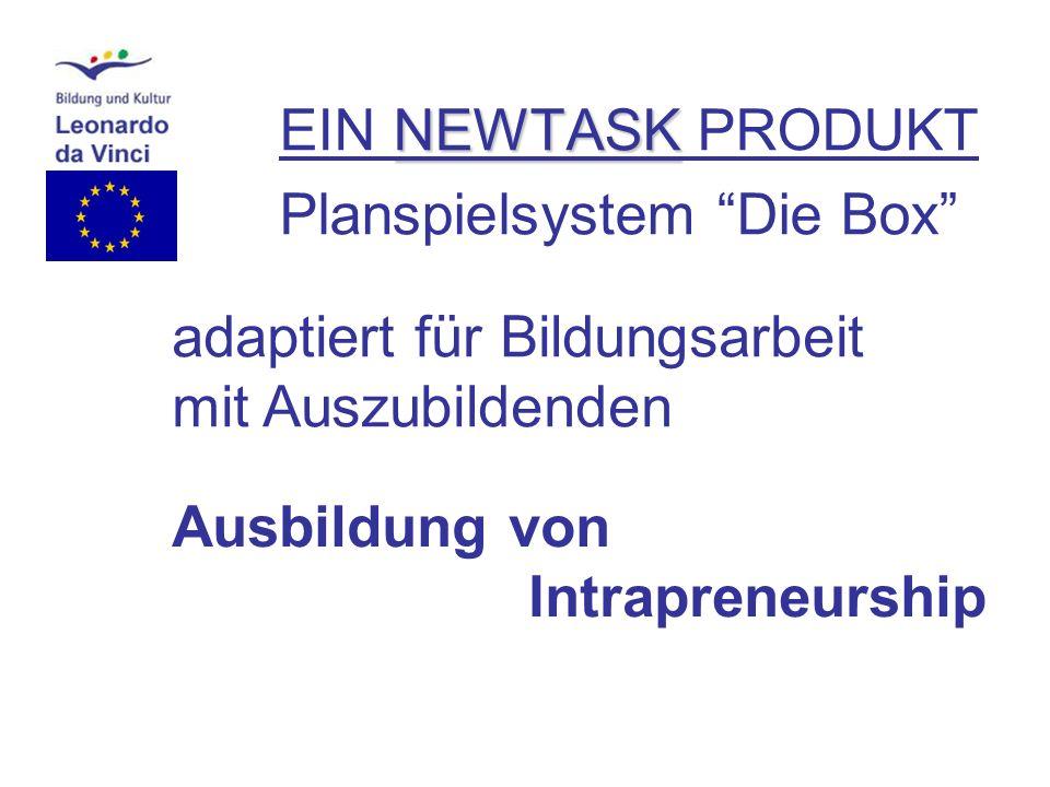 NEWTASK EIN NEWTASK PRODUKT Planspielsystem Die Box adaptiert für Bildungsarbeit mit Studierenden