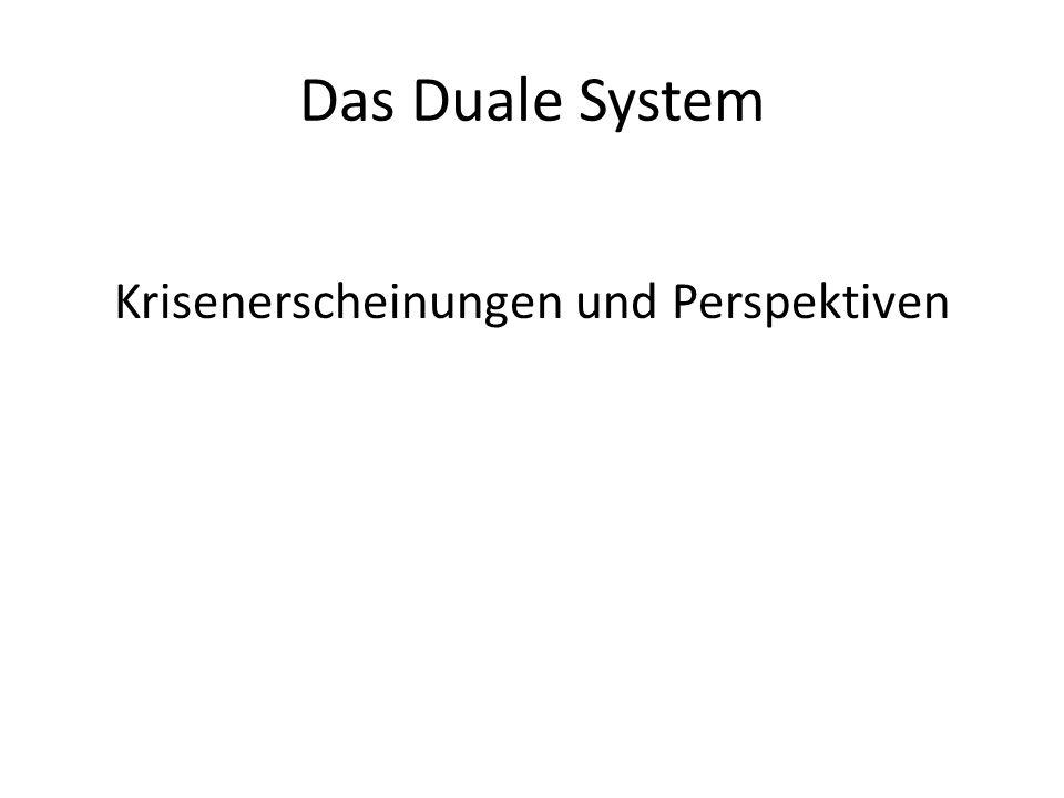 Das Duale System Krisenerscheinungen und Perspektiven