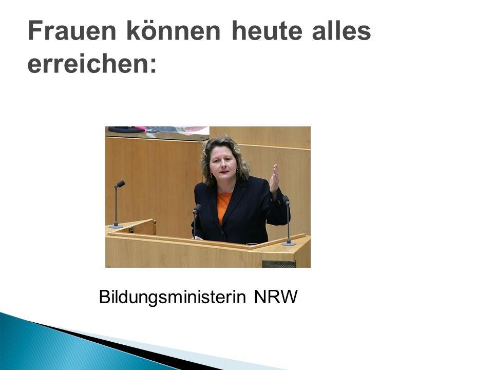 1.Frauenförderung Beginn 70er Jahre 2. Gleichstellungspolitik 3.