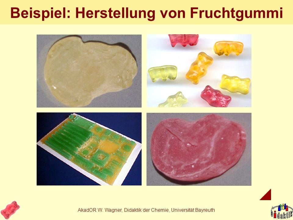 AkadOR W. Wagner, Didaktik der Chemie, Universität Bayreuth Die besondere Erkenntnis Besteht der Verbraucher auf einer bestimmten Farbe, kriegt er sie