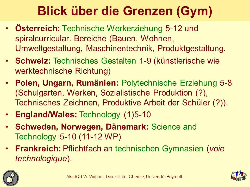 AkadOR W.Wagner, Didaktik der Chemie, Universität Bayreuth Verwandtschaften der Methoden 5.