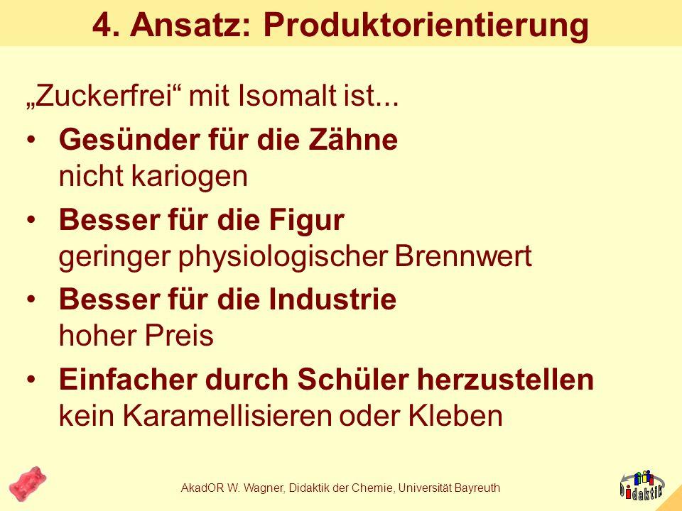 AkadOR W. Wagner, Didaktik der Chemie, Universität Bayreuth 3. Ansatz: Formel & Struktur von Isomalt Isomalt GPMIsomalt GPS