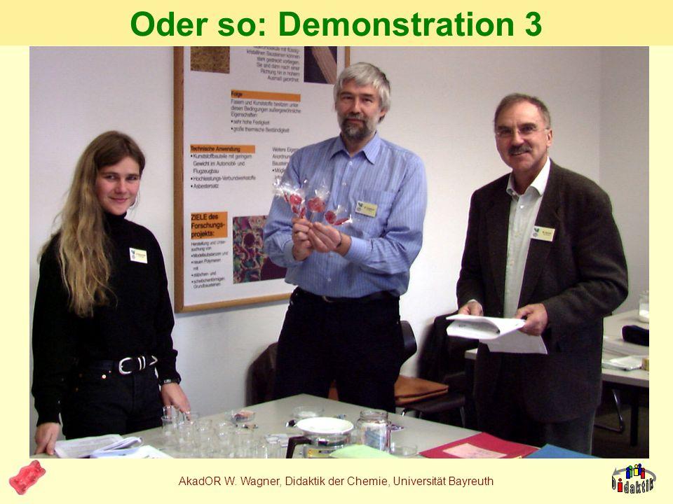 AkadOR W. Wagner, Didaktik der Chemie, Universität Bayreuth 4. Ansatz: Produktorientierung Zuckerfrei mit Isomalt ist... Gesünder für die Zähne nicht