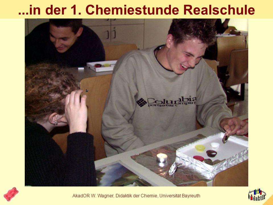 AkadOR W. Wagner, Didaktik der Chemie, Universität Bayreuth...in der 1. Chemiestunde Realschule