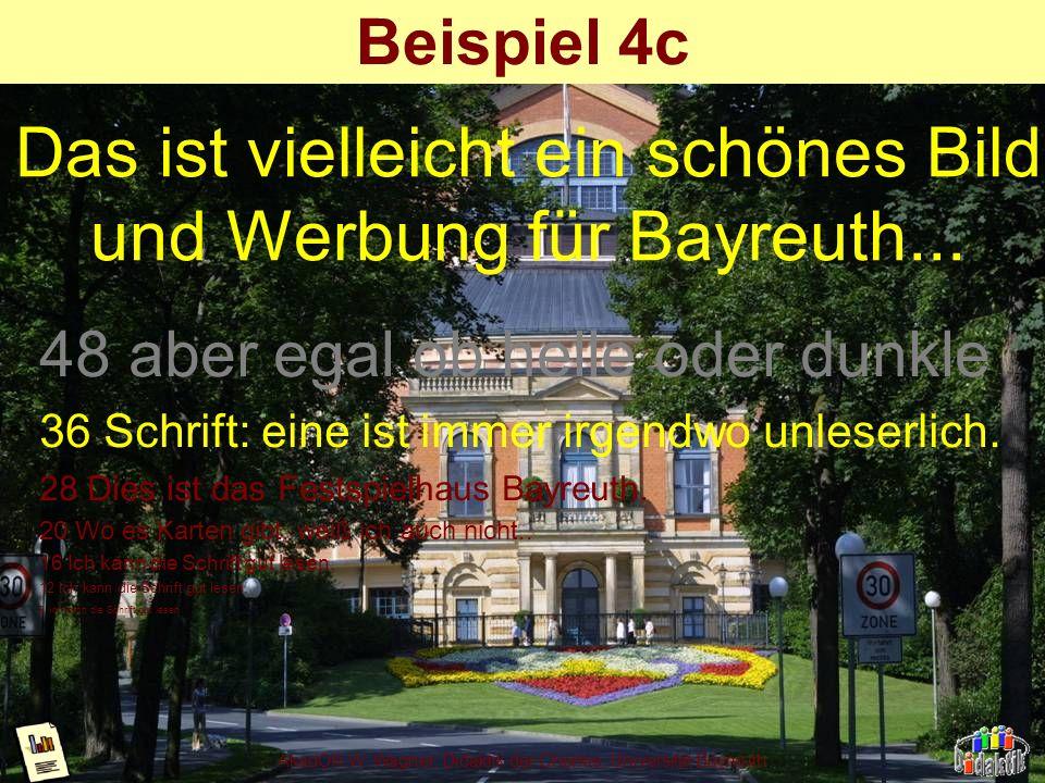 AkadOR W. Wagner, Didaktik der Chemie, Universität Bayreuth Beispiel 4b nicht strukturierter Hintergrund; schwarze Schrift bestens lesbar, Weisse über