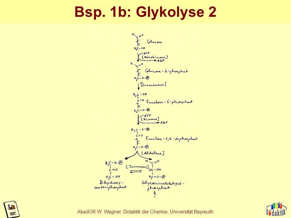 AkadOR W. Wagner, Didaktik der Chemie, Universität Bayreuth Bsp. 1a: Glykolyse Quelle: Strassburger, Lehrbuch der Allgemeinen Botanik, G. Fischer, Hei