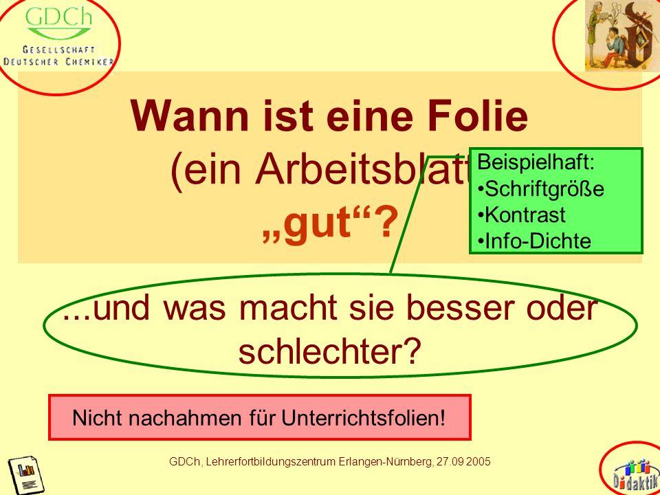 AkadOR W. Wagner, Didaktik der Chemie, Universität Bayreuth Was ich nicht erzählen werde Hauptsache in der Medienarbeit bleibt die Lehrersprache (Lehr