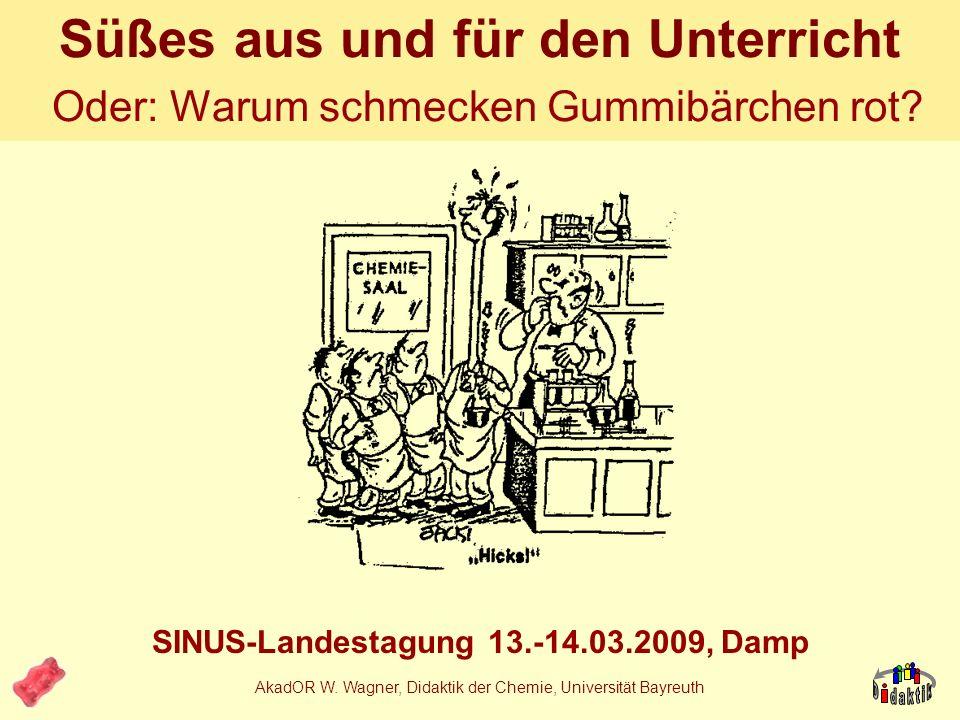 AkadOR W. Wagner, Didaktik der Chemie, Universität Bayreuth Reaktionen der Schüler