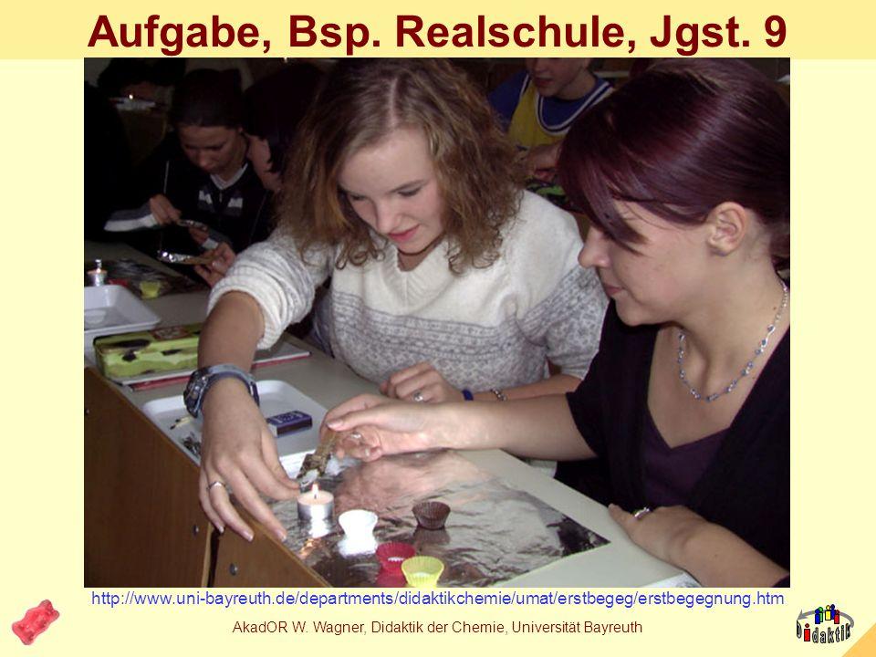 Beispiel: Erstkontakt mit Chemie......Beschreibung einer einführenden Unterrichtseinheit zum Lernbereich Aufgabenbereich eines Chemikers