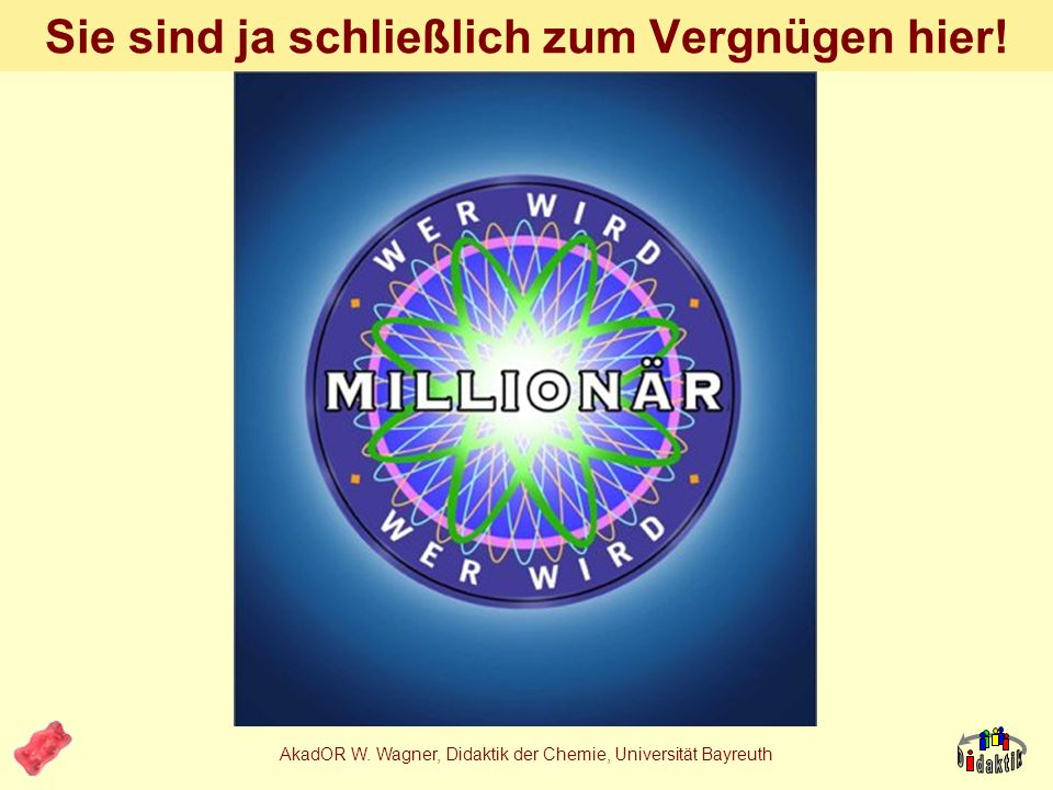 AkadOR W. Wagner, Didaktik der Chemie, Universität Bayreuth 2. Welcher Art… …sind die Kenntnisse?