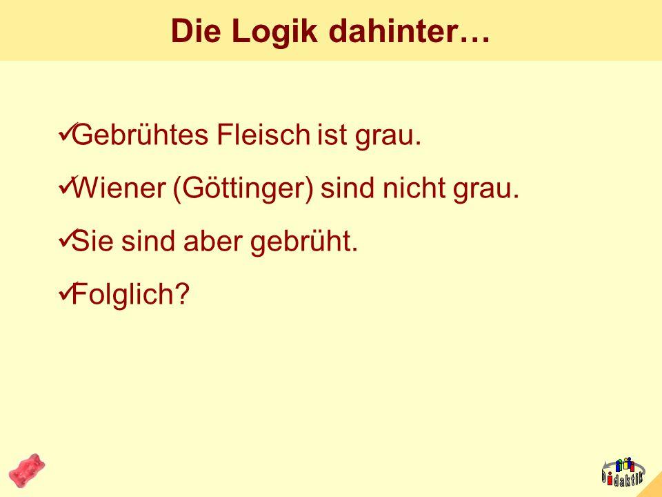 AkadOR W. Wagner, Didaktik der Chemie, Universität Bayreuth Die 100-Euro-Frage. Welche Wurst (alle drei: Göttinger) ist frisch? A B C D: alle drei? Si