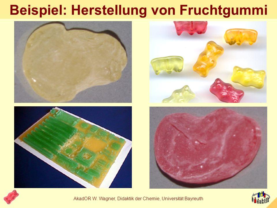 AkadOR W. Wagner, Didaktik der Chemie, Universität Bayreuth 3. Wie… …kann man Inhalte anders transportieren?