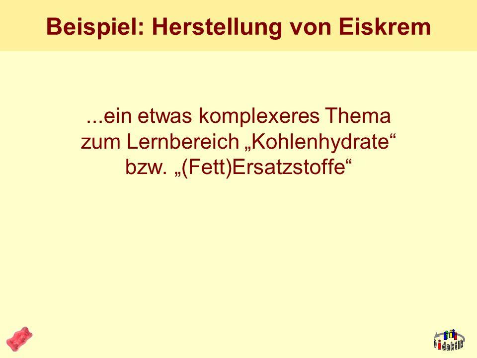 AkadOR W. Wagner, Didaktik der Chemie, Universität Bayreuth Was haben wir gelernt? Isomalt ist ein Saccharoseprodukt (Stoffartumwandlung, also Chemie)