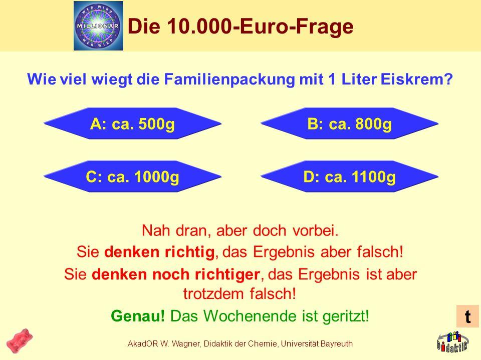 AkadOR W. Wagner, Didaktik der Chemie, Universität Bayreuth Stabilisatoren in Eiskrem Johannisbrotkernmehl (Baum)E410 Guarkernmehl (Baum)E412 Carragee