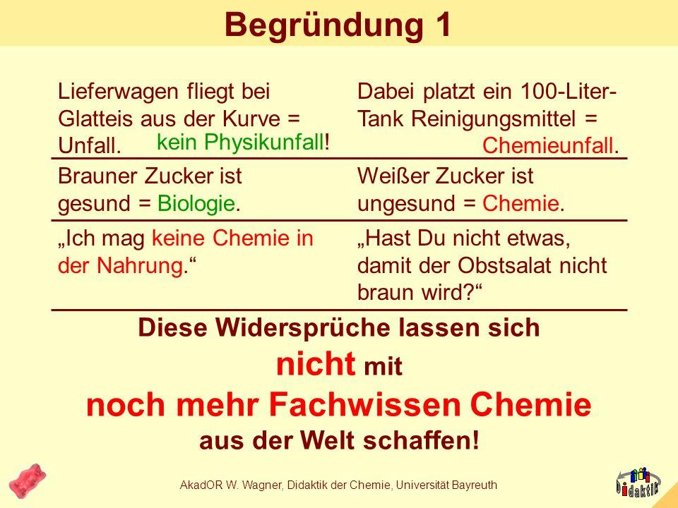 AkadOR W.Wagner, Didaktik der Chemie, Universität Bayreuth 2.+3.