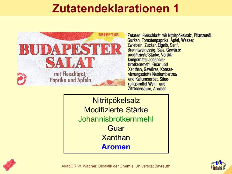 Beispiel: Aromen...ein Thema zum Lernbereich Ester bzw. Aromastoffe / Lebensmittelaromen