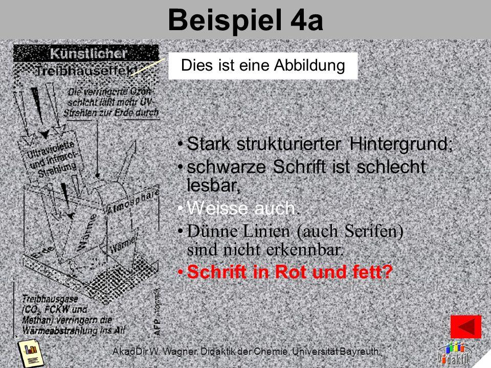 AkadDir W. Wagner, Didaktik der Chemie, Universität Bayreuth Der Kontrast Maximaler Kontrast. Maximaler inverser Kontrast Kontrast abgeschwächt. Inv.