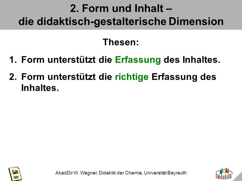 AkadDir W. Wagner, Didaktik der Chemie, Universität Bayreuth Epilog: Ausnutzung der Fläche Aber so auch nicht: Das neue W- und P-Seminar in der neuen