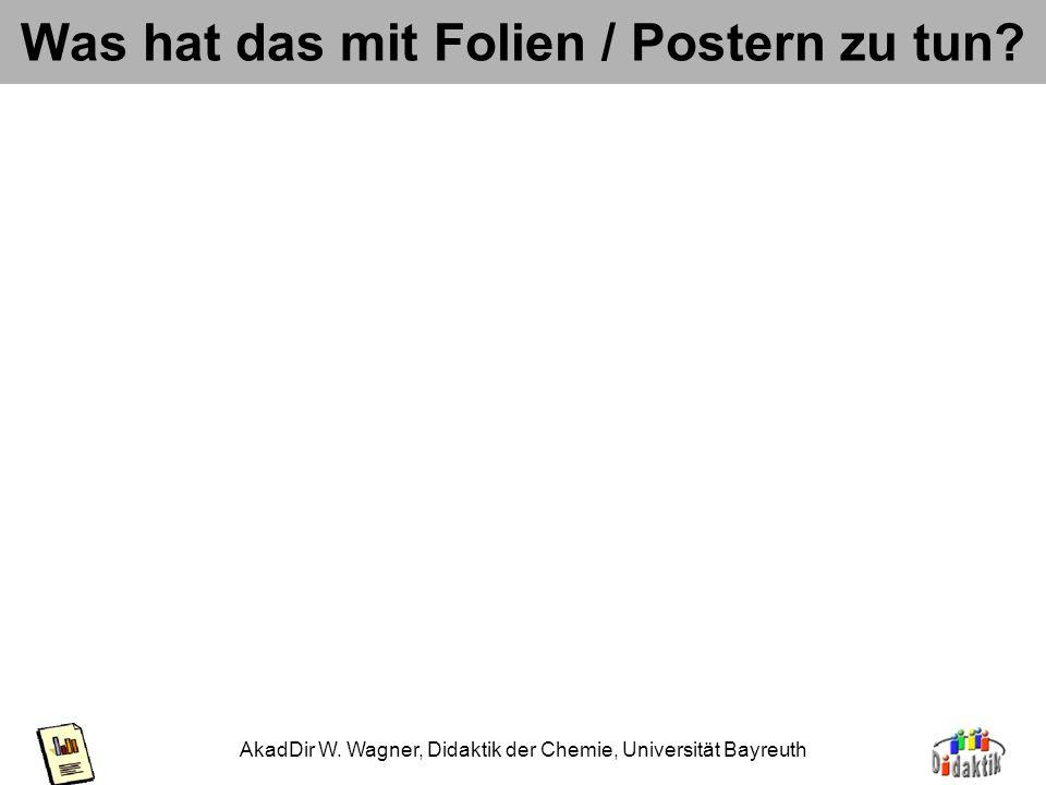 AkadDir W. Wagner, Didaktik der Chemie, Universität Bayreuth Wahrnehmungsgesetze Gesetz der glatt durchlaufenden Linie: Negativbeispiel