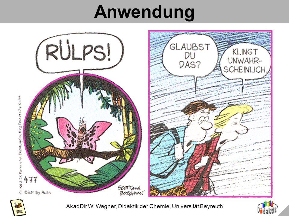 AkadDir W. Wagner, Didaktik der Chemie, Universität Bayreuth Anwendung in Comics: Zits