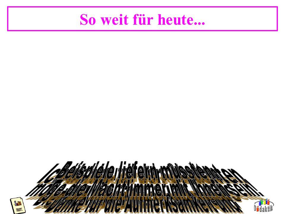 AkadDir W. Wagner, Didaktik der Chemie, Universität Bayreuth Hinweis: Präsentation Diese Präsentation ist beispielhaft für: Schriftgröße, Informations