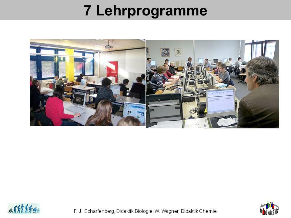 7 Lehrprogramme F.-J. Scharfenberg, Didaktik Biologie; W. Wagner, Didaktik Chemie
