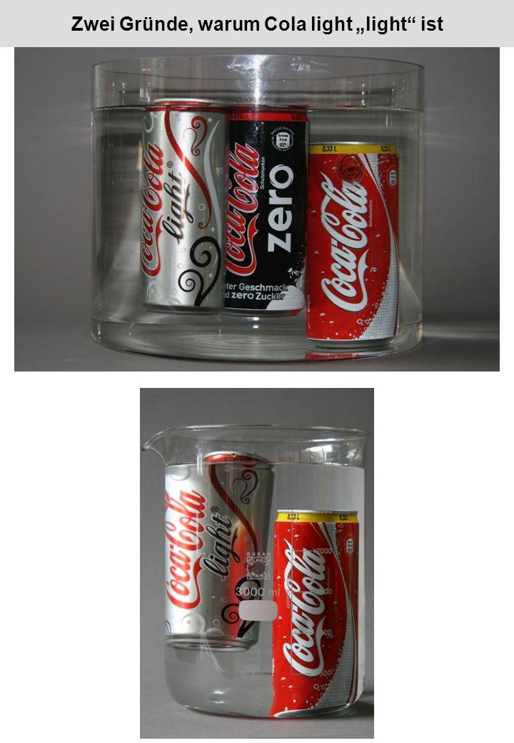 Zwei Gründe, warum Cola light light ist