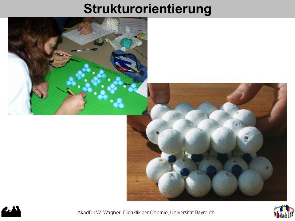Strukturorientierung AkadDir W. Wagner, Didaktik der Chemie, Universität Bayreuth