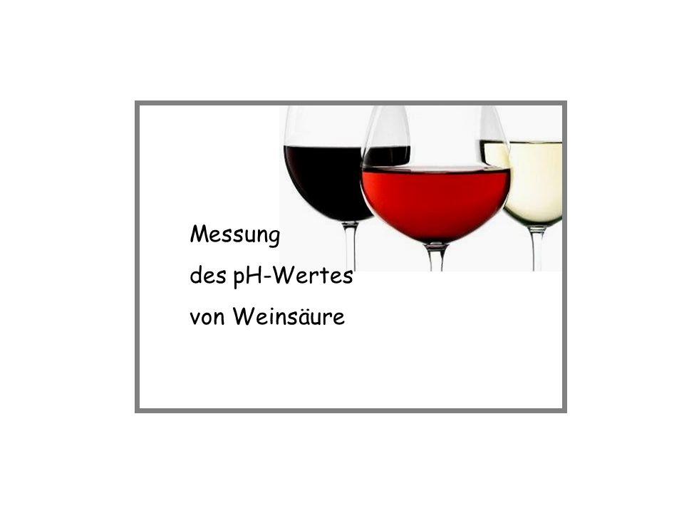 Messung des pH-Wertes von Weinsäure