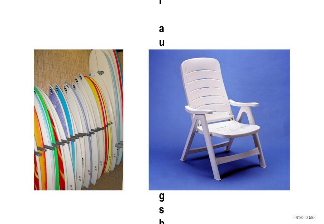 061/000.592 Surfbretter und Freizeitmöbel aus witterungsbeständigem ASASurfbretter und Freizeitmöbel aus witterungsbeständigem ASA