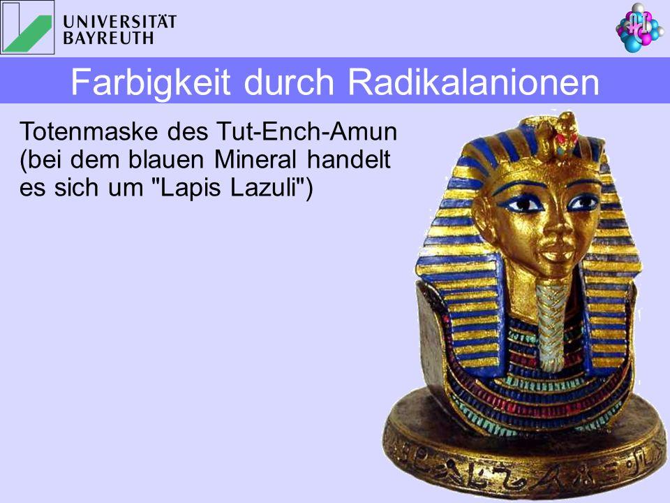 Totenmaske des Tut-Ench-Amun (bei dem blauen Mineral handelt es sich um