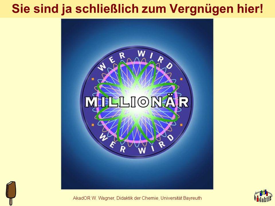 AkadOR W. Wagner, Didaktik der Chemie, Universität Bayreuth Ananas-Aromakomposition Andrea 4 Nr.NameVKVK Bezugsquelle 1.Allylhexanoat, T, F1mLAldrich