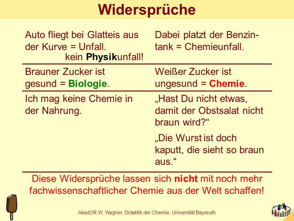 AkadOR W.Wagner, Didaktik der Chemie, Universität Bayreuth Schüler und Produktion 1.