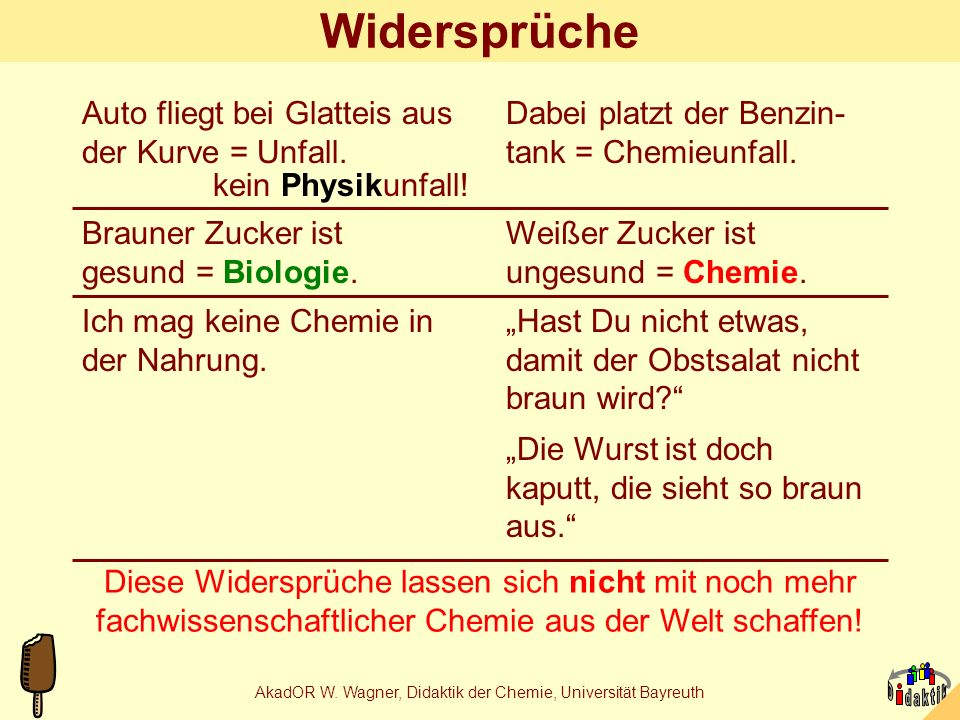 AkadOR W. Wagner, Didaktik der Chemie, Universität Bayreuth Manuelle Kunstwerke