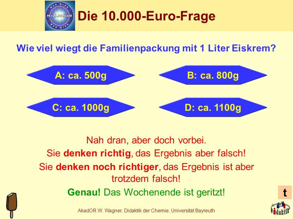 AkadOR W. Wagner, Didaktik der Chemie, Universität Bayreuth Stabilisatoren in Eiskrem Johannisbrotkernmehl (Ceratonia)E410 Guarkernmehl (Cyamopsis)E41